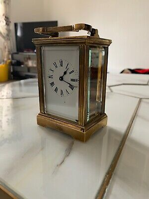 Brass Carriage Clock Working With Key.