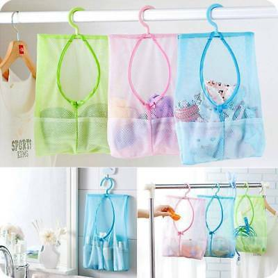 Bath Mesh Bags Storage Wall Door Hanging Toiletry Home Hanger Organizer Pouch AU