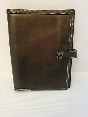 "Coach Black Leather Address Book Planner Organizer Notes  8.5""x5""    v3014"