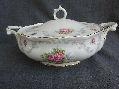 Royal Albert England Bone China Tranquillity Covered Dish Tureen Lid Excellent