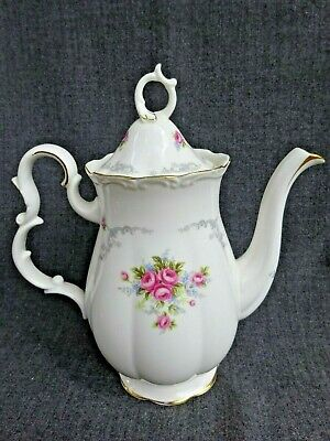 Royal Albert England Bone China Tranquillity Coffee Pot with Lid Excellent