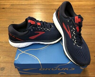 Brooks Ghost 11 Mens Running Shoes Navy/Red/White multiple sizes New In Box
