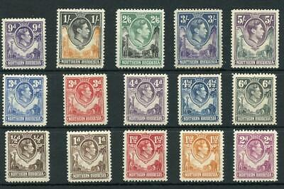 Northern Rhodesia 1938-52 values to 5s mostly MNH cat £140