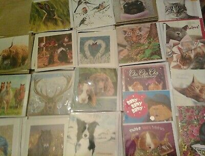 50 Animal  Mix, Wholesale Joblot Greeting Cards
