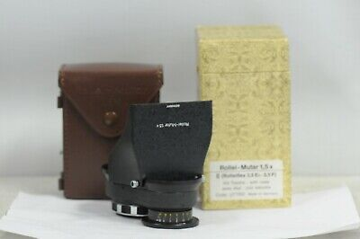 Rolleiflex Mutar 1.5 Bay-II with Hood, Case & Box For 3.5 E-3 or F