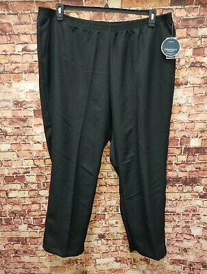 Karen Scott Womens Plus Sz 3X Comfort Elastic Waist Classic Black Trouser Pants