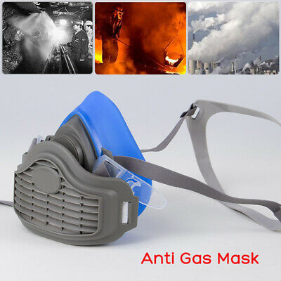 Anti Gas Mask Survival Safety Respiratory Emergency Masks & 20x Filter Pads New