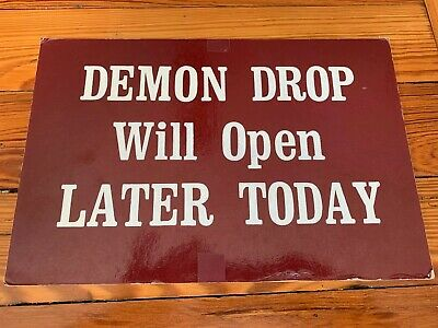 Cedar Point Amusement Theme Park Ticket Booth sign DEMON DROP RIDE - SUPER RARE