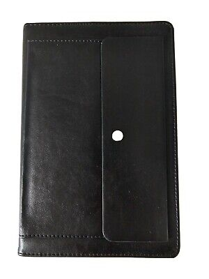 Leather Journal Reusable Cover with Snap Pocket (Daily Journal Included)