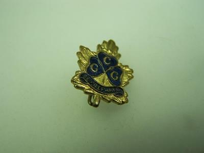 Pin back badge CGG Girl Guides 'Be prepared'                                1485