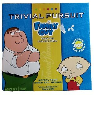 Family Guy Trivial Pursuit Card Game Quick Play Collector's Edition Complete