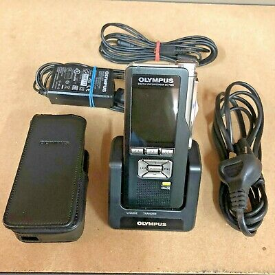 Olympus DS7000 Dictaphone. Digital Voice Recorder With Cradle And Pouch DS-7000
