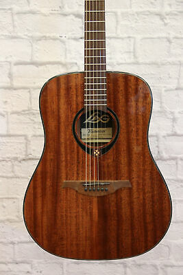 Lag T90D Tramontane Dreadnought Acoustic Guitar (one tuning peg missing back cov