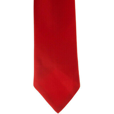 Showquest Plain Unisex Accessory Tie - Red All Sizes
