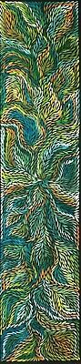 Rosemary Petyarre .Authentic Aboriginal Art. Bush yam flower, Size; 200 x 45cm.