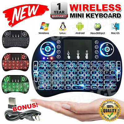 Mini Wireless Keyboard for Smart TV Android Box PC i8 2.4GHz with Touchpad NEW