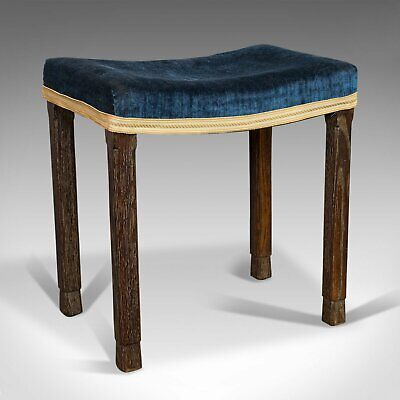 Vintage Coronation Stool, English, Footstool, Maple and Co, London, George VI
