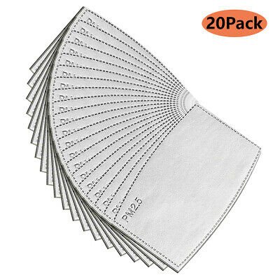 50 Pcs PM 2.5 Face Safe Filter Replacement Activated Carbon Filters Mouth Cover