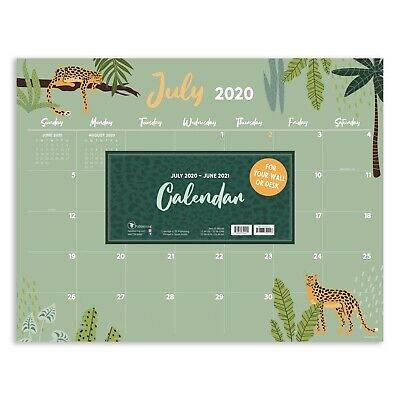 July 2020 - June 2021 Monthly Theme Large Desk Pad Monthly Calendar