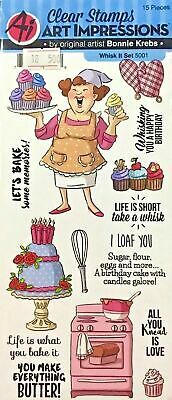 Clearance Sale Art Impressions Clear Stamps ~Whisk It Set Code 5001