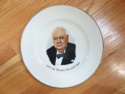 """1874 SIR WINSTON CHURCHILL 1965 10"""" Plate (Made in Western Germany)"""