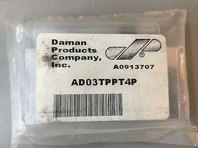 "Daman Ad03Tppt4P Aluminum Tapping Plate 1/4"" Npt Ports P-T"