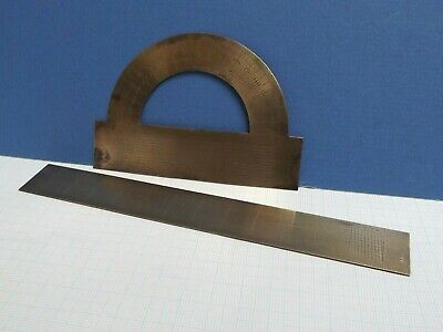 Drawing Instruments { Architects Instruments } Brass Protractor [ Brass Rule ]