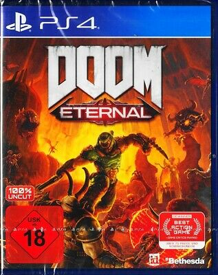 Doom Eternal - PlayStation 4/PS4 - Neu & OVP -DE Version- inkl. Pre Order Bonus