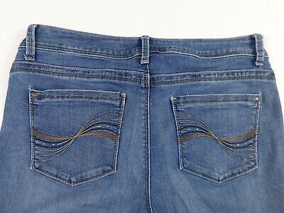 Womens LEE Perfect Fit Straight Leg Size 10 M Blue Jeans 31x31
