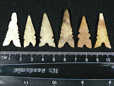 A Lot of SIX! Ancient North African Tidikelt Arrowheads or Points! 3.15