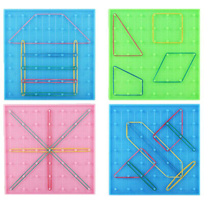 Plastic Nail Plate Primary Mathematics Nailboard Puzzle Game Tool for K-PN