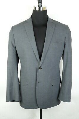 Brooks Brothers Brookscool Full Canvas Fitzgerald  Gray Wool Suit 42R 36W 29L