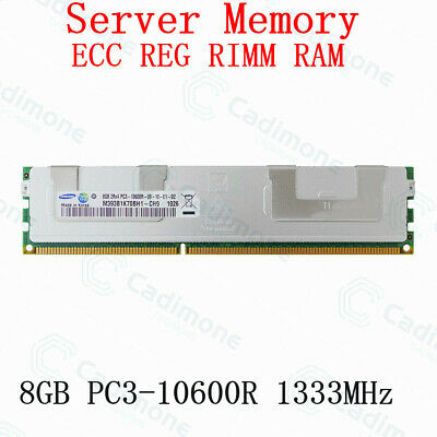 For Samsung 8GB PC3-10600R DDR3 1333MHz 240pin ECC REG DIMM Server Memory RHUS