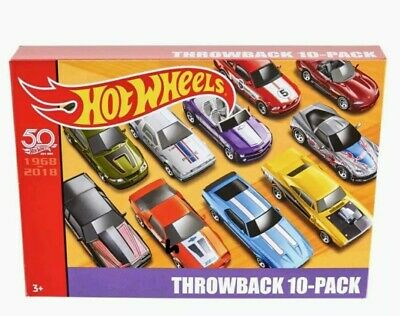 HOT WHEELS THROWBACK 10-PACK 50th ANNIVERSARY LIMITED EDITION  Box Set. NEW*
