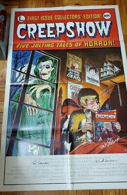 CREEPSHOW original theater poster SIGNED BY CAST with 13 AUTOGRAPHED SIGNATURES
