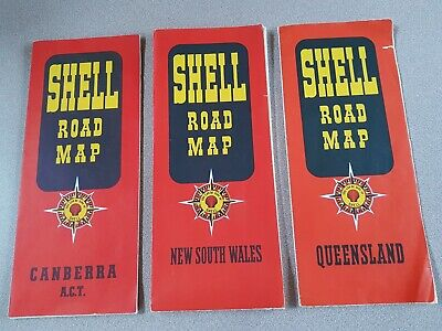 Vintage Shell Road Maps -  NSW, Qld & ACT