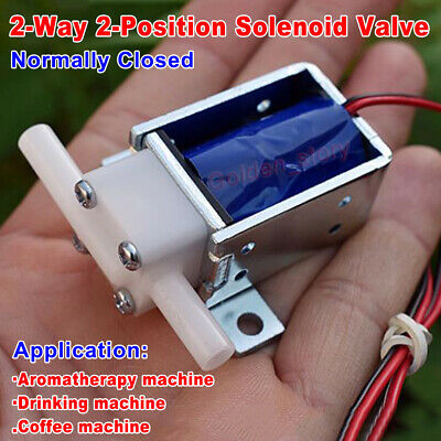 CEME DC 12V Micro Electric Solenoid Valve Normally Closed Air Water Flow Control