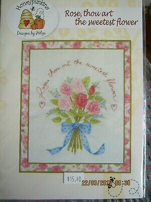 ROSE THOU ART SWEETESTembroidery pattern USE threads paints/watercoloured pencil