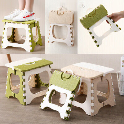 Heavy Duty Plastic Step Stool Foldable Multi Purpose Home Kitchen Outdoor Use