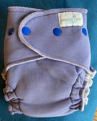Amethyst Twinkie Tush OS Fusion Fitted Cloth Diaper Softface Windpro