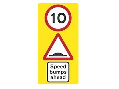 Wall Mounted Speed Bump Warning Sign 10mph