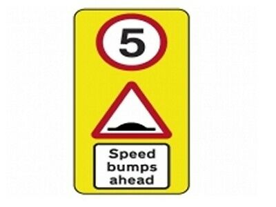 Wall Mounted Speed Bump Warning Sign 5mph