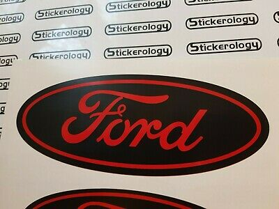 6 X Ford Stickers Black & Red