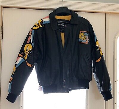 Classic Looney Tunes Collection Tweety Bird 100% Leather Jacket