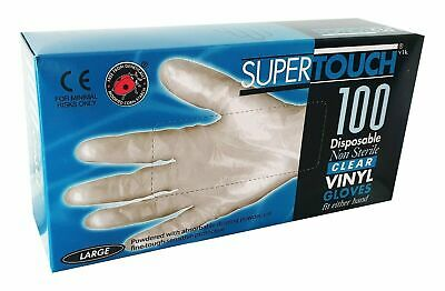 Supertouch Powdered Vinyl Medical Gloves 11303 Disposable Hygiene Lab Protection