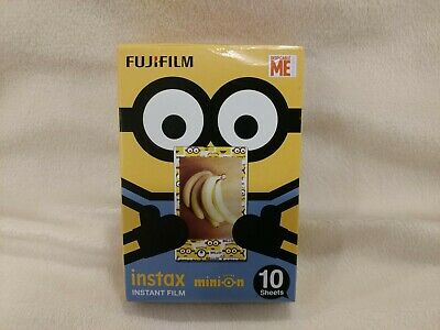 New Fujifilm Instax Mini Minion Minions 10 Sheets Instant Film Expired 5/2019
