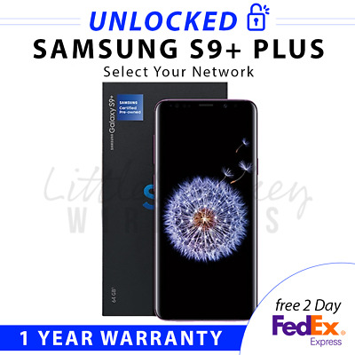Samsung Galaxy S8+Plus 64Gb Sm-G955U1 Black Factory Unlocked Select Your Network
