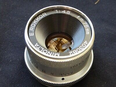 Minolta 75mm F4.5 E.Rokkor Enlarging Lens