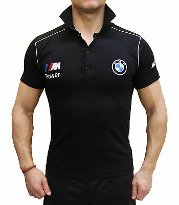 Handmade T-shirt BMW M Power EMBROIDERED COLLAR Combed Cotton Polo Embroidery M3