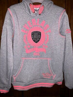 Girls Everlast Grey/pink Tracksuit. Age 11-12. Brand New